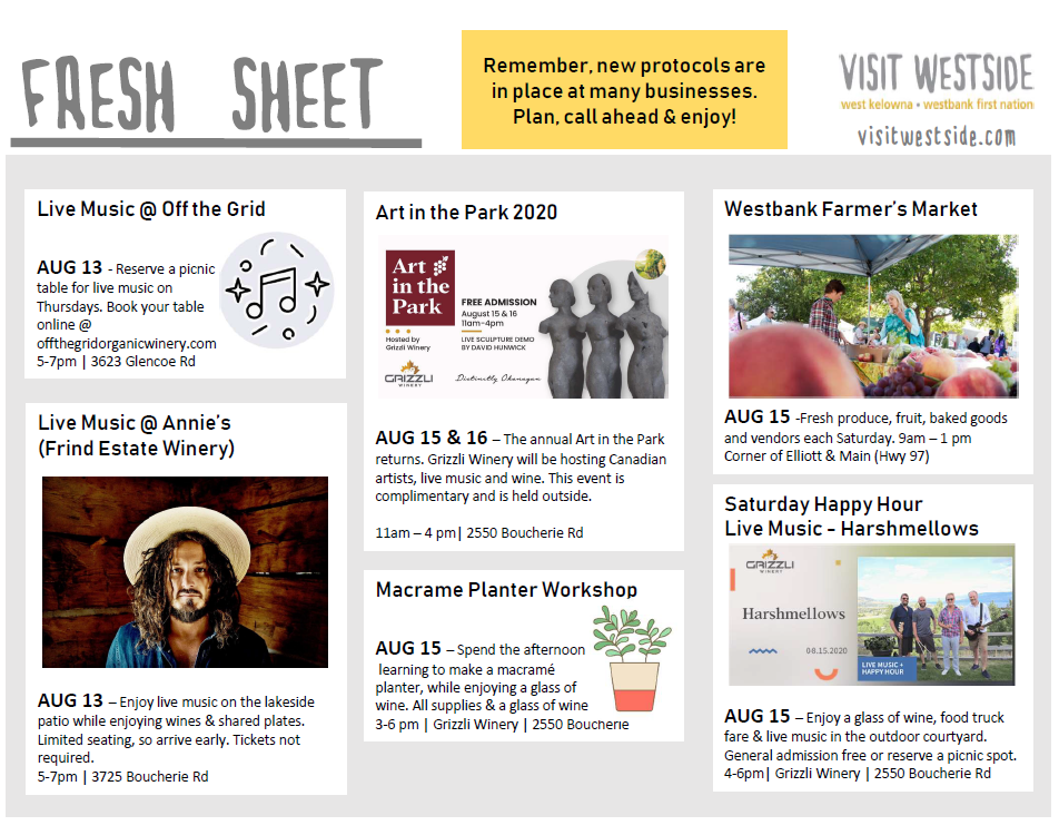Fresh Sheet | Aug 12 18 | What's Happening In Wk